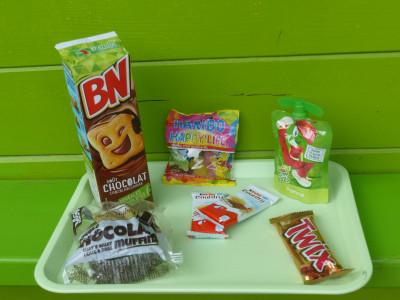 goûters et friandises espace Snacking Parcofolies