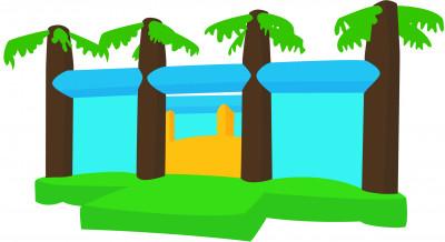 montagne molle ou dune oasis jeu pour enfants Parcofolies