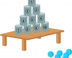 jeu chamboule-tout challenge sportif Parcofolies La Baule