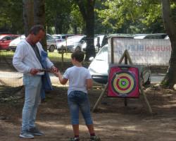 activité enfant parent tir à l'arc Parcofolies