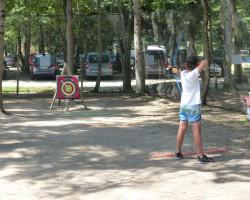 Activité tir à l'arc jeu du challenge sportif Parcofolies La Baule