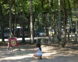 tir à l'arc activité Parcofolies Parc de loisirs La Baule